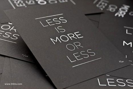 Less is more – Réaliser un site web : ce qu'il ne faut pas oublier   Quand la communication passe au web   Scoop.it
