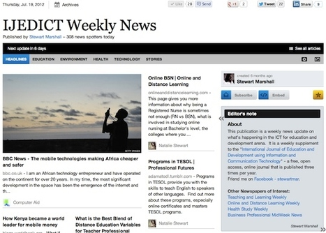 IJEDICT Weekly News | Studying Teaching and Learning | Scoop.it