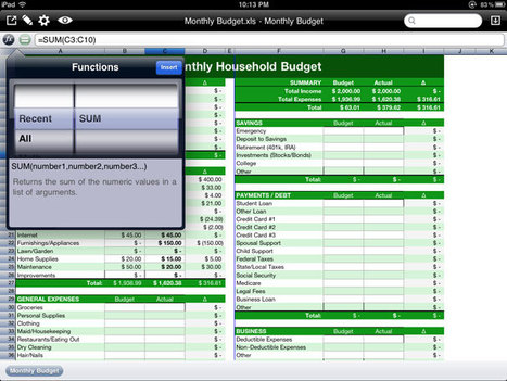 How to edit spreadsheets on an iPad | iPad Adoption | Scoop.it