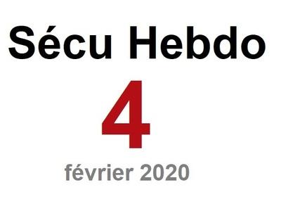 Sécu Hebdo 4 du 23 février 2020