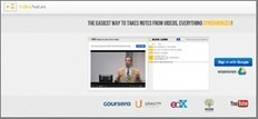 Regarder une vidéo, prendre des notes, synchroniser le tout : c'est fait !   Pédagogie et web 2.0   Scoop.it