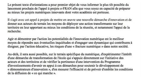 L'État se prépare à allouer 30 premiers millions d'euros au plan pour le numérique à l'école   Innovation pour l'éducation : pratique et théorie   Scoop.it