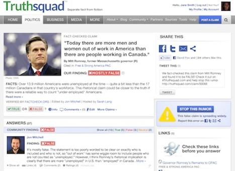 NewsTrust dives into the fact-check business with expanded Truthsquad | digital journalism tools and topics | Scoop.it