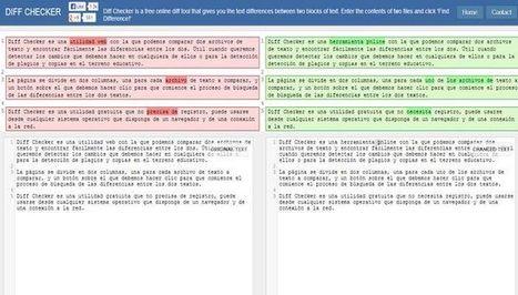 Diff Checker, herramienta online para comparar dos archivos de texto | Notícias TICXEDU | Scoop.it