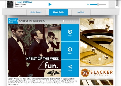 """Slacker Combines Best Of Spotify, Pandora, XM In """"Complete Music Service"""" Update For Web, Apps, Cars   The Shape of Music to Come   Scoop.it"""