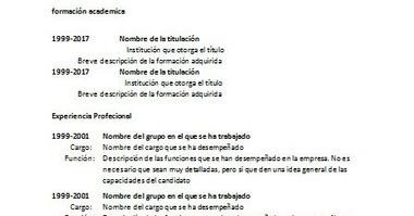 Ejemplo De Curriculum Vitae Basico Simple C