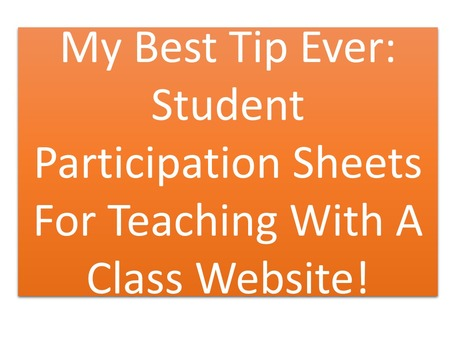 Participation Sheets: Teach With A Class Website | MyWeb4Ed | MyWeb4Ed | Scoop.it