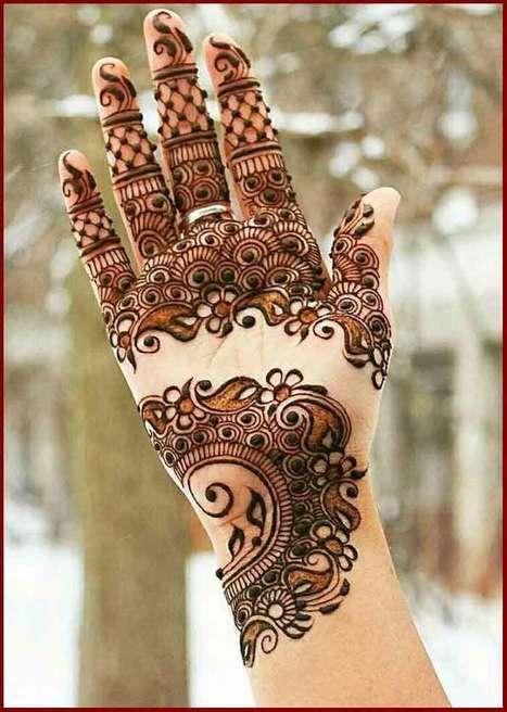 Best Arabic Bridal Mehndi Designs For Full Hands In