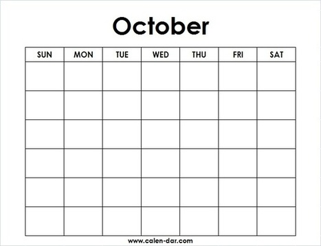 Blank October Calendar In Printable Calendar Scoop