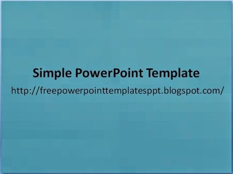 Free Simple Clean Basic Powerpoint Template Ppt