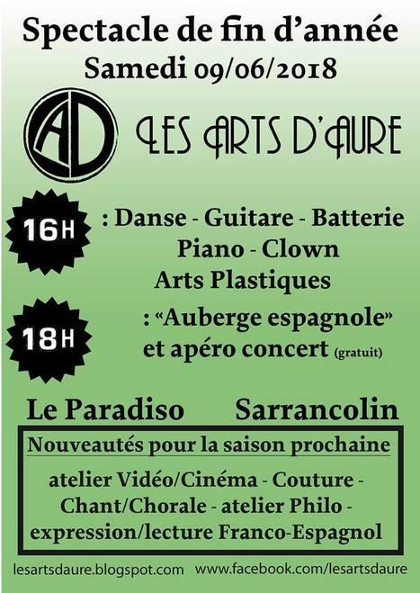 Spectacle De Fin Danne Des Arts DAure Le 9 Juin Sarrancolin