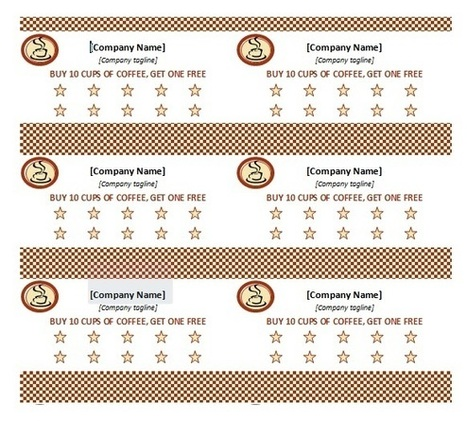 MS Word Punch Card Template For Business