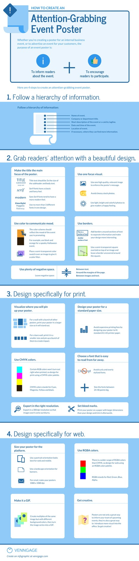 How to Create an Attention-Grabbing Poster Design for Any Event #Infographic | MarketingHits | Scoop.it