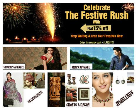 Diwali Offer 2012 - Flat 15% off.....   Facebook   I don't do fashion, I am fashion   Scoop.it