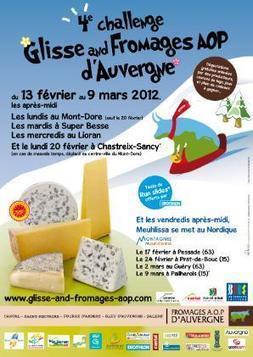 Le Challenge Glisse & Fromages AOP d'Auvergne. | The Voice of Cheese | Scoop.it