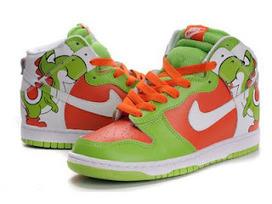 new styles d39d8 6bfd2 Yoshi Nike Dunks Nike Dunk Shoes Yoshi High Custom Brass Monki Green  Patterns