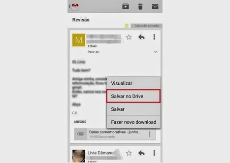 Como salvar anexos do Gmail para Android direto no Google Drive | Android Brasil Market | Scoop.it