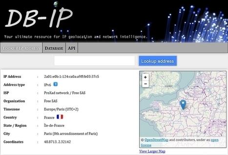 Services de géolocalisation d'adresses IP | Informatique | Scoop.it