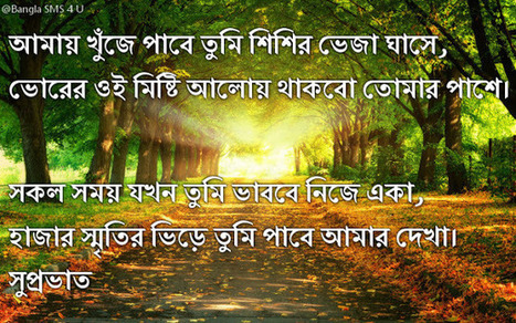 Good Morning Kobita Images Bengali With Sms, Qu