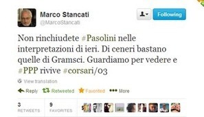 La #twitteratura ci fa leggere di più.Pier Paolo Pasolini e lo spurio argomentare | Io scrivo, leggo, bloggo, racconto, recensisco | Scoop.it