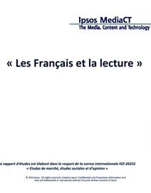 Les Français et la lecture : étude Ipsos | L'édition en numérique | Scoop.it