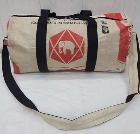 Towards fair trade Cambodia, Eco-friendly new elephant cement sport bag, ethically handmade. www.craftworkscambodia.com | Eco-Friendly Messenger Bags By Disabled Home Based Workers. | Scoop.it