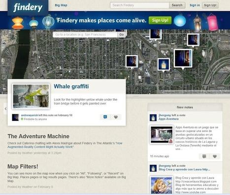 Findery - notas multimedia geolocalizadas de Realidad Aumentada | VIM | Scoop.it