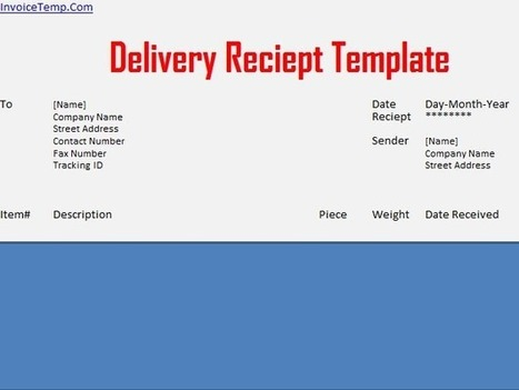 Delivery Receipt Template Excel Invoicetemp