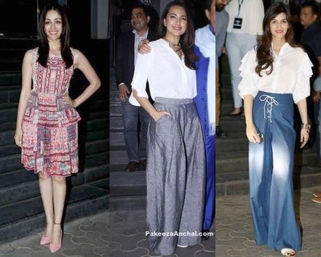Bollywood Celebrities at Dangal Movie Screening Actress, #ActressInSkirts, #BhumiPednekar, #BollywoodActress, #BollywoodDesignerDresses, #CelebrityDresses, #DangalMovie, #DesignerWear, #DivyaKhosla... | Indian Fashion Updates | Scoop.it