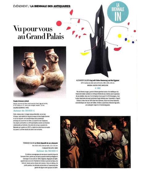 Beaux Arts Magazine - Evénement la Biennale des Antiquaires   La Biennale - Paris   Scoop.it
