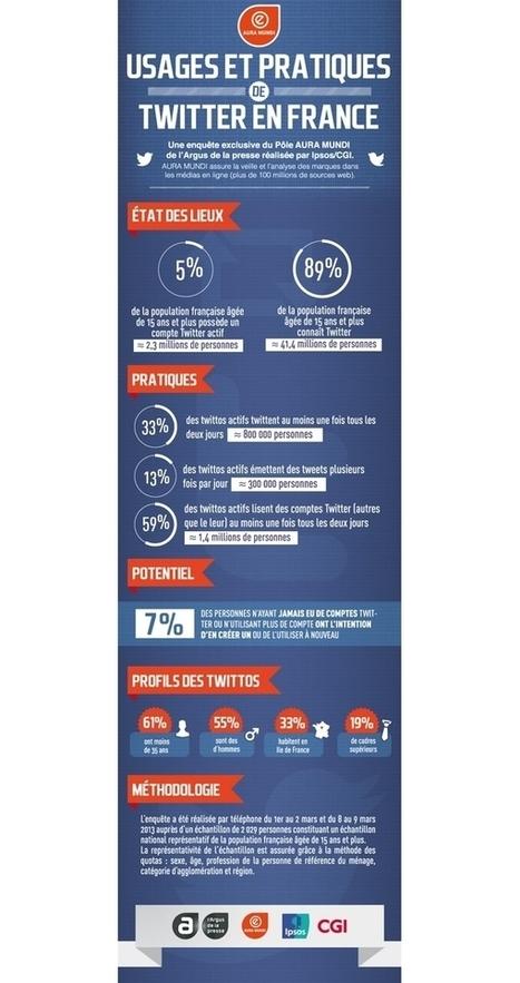 [Twitter] Usages et pratiques de Twitter en France | Communication - Marketing - Web_Mode Pause | Scoop.it