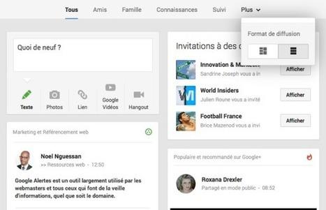 Le nouveau Google+ débarque : ce qu'il faut retenir - MediasSociaux.fr | Imagincreagraph.com | Scoop.it