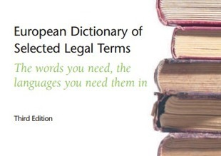 (DE) (FR) (IT) (ES) (EN) (PDF) – European Dictionary of Selected Legal Terms | Geoffrey V. Morson | French law for non french-speaking patrons - Legal translation tools | Scoop.it