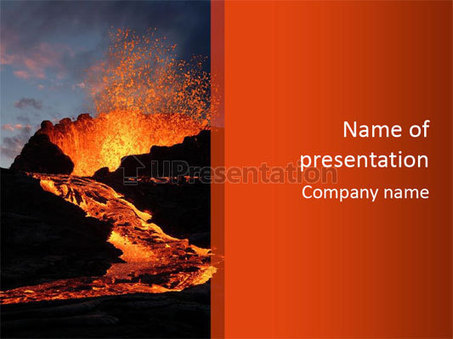 Volcano Eruption Powerpoint Template Id 0000062