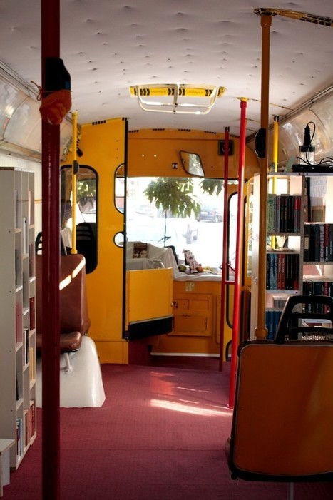 New Otets Paisiy Public Library in old trolley bus | SocialLibrary | Scoop.it