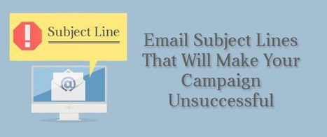Email Subject Lines That Will Make Your Campaign Unsuccessful | AlphaSandesh Email Marketing Blog | best email marketing Tips | Scoop.it