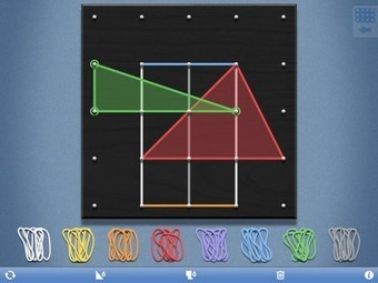 Free Technology for Teachers: Geoboard & Number Rack - Good Elementary Math Apps | iPads in Education | Education-Ms.FloresS | Scoop.it