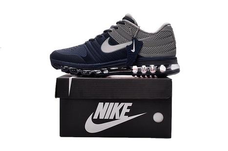 Nike Air Max 2017 Men Running Shoes Navy Gray S