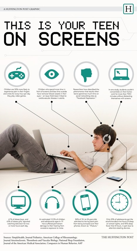 Teens on Screens Infographic - e-Learning Infographics | Professional development of Librarians | Scoop.it