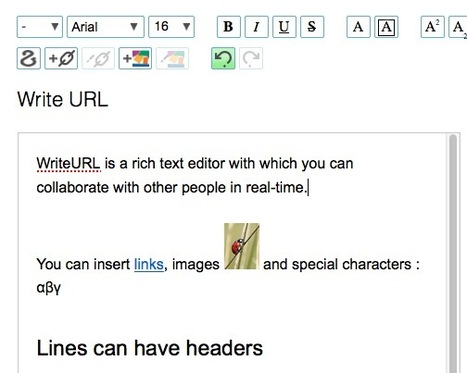 Real-Time Collaborative Text Editor: WriteURL | Learning, Teaching & Leading Today | Scoop.it