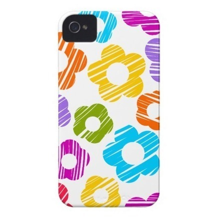 Colorful freehand drawn flowers 4/4S Case iPhone 4 Case from Zazzle.com | Cute floral iPhone Cases | Scoop.it