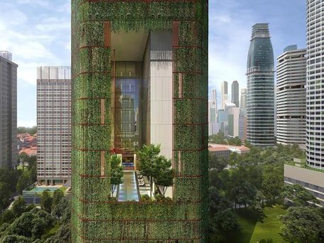 "This plant-covered Singapore skyscraper is the tropical building of the future (""closer to nature"") 