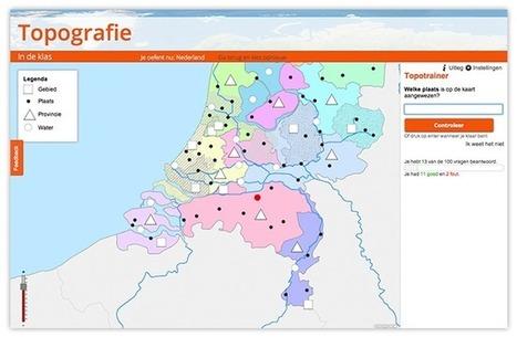 Topografie oefenen en jouw eigen topoboekje - Topografie in de Klas | Leren met ICT | Scoop.it