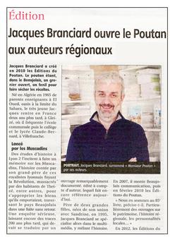Jacques Branciard ouvre le Poutan aux auteurs régionaux - Le Pays Roannais | Romans régionaux BD Polars Histoire | Scoop.it