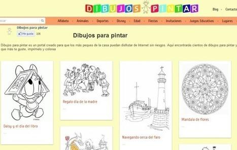 Dibujos-pintar: plantillas para imprimir y colorear, juegos y otros recursos educativos | Las TIC y la Educación | Scoop.it