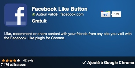Extension Chrome officielle pour ajouter un bouton J'aime Facebook   SocialWebBusiness   Scoop.it