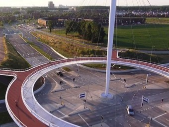Bicycle roundabout in the sky in the Netherlands, Hovenring (video) | tecnologia s sustentabilidade | Scoop.it