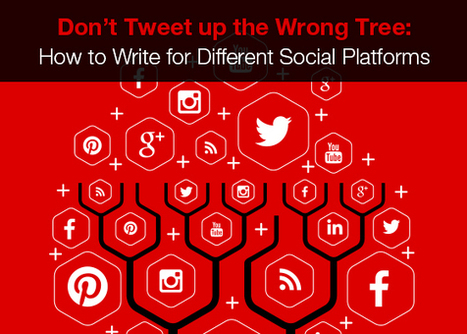 Don't Tweet up the Wrong Tree: How to Write for Different Social Platforms | Top Internet Marketing Infographics - in my opinion | Scoop.it