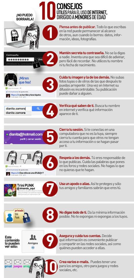 Seguridad e Internet: 10 consejos para los más chicos #infografia | Bibliotecas Escolares Argentinas | Scoop.it