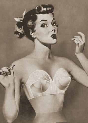 Vintage Bra Ad Illustration | Sex History | Scoop.it